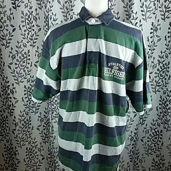 6b7d0be140 Tommy Hilfiger Shirts | Vintage Stripe Polo Button Neck | Poshmark
